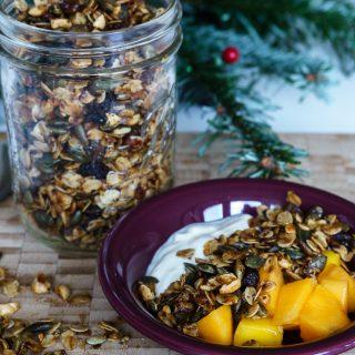 Schnelles winterliches Pfannen-Granola