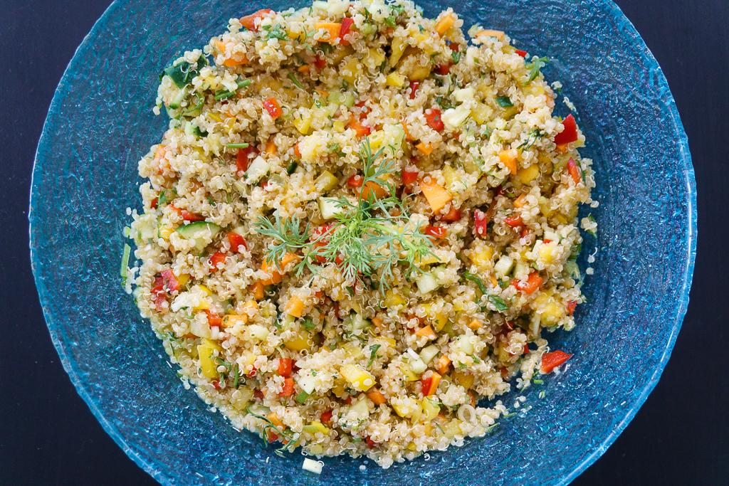 Schneller Und Sommerlicher Quinoa Mango Salat Lydia Loves Coconut